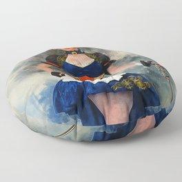 Steampunk Girl Floor Pillow