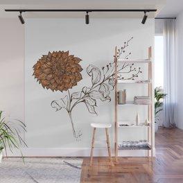 Aries Dahlia - Contemporary Botanical Wall Mural