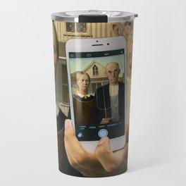 American Gothic Selfie Travel Mug