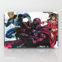 magneto iPad Cases featuring Magneto, Quicksilver, Scarlet Witch by Taylor Starnes