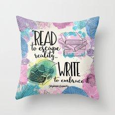 Write to Embrace design Throw Pillow