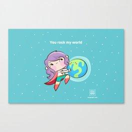 Rock My World Canvas Print