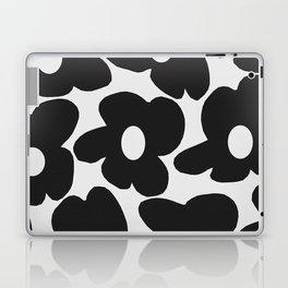 Black Retro Flowers White Background #decor #society6 #buyart Laptop & iPad Skin