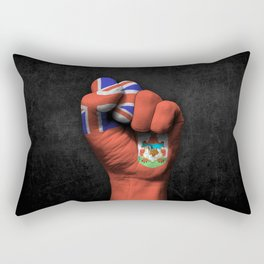 Bermuda Flag on a Raised Clenched Fist Rectangular Pillow
