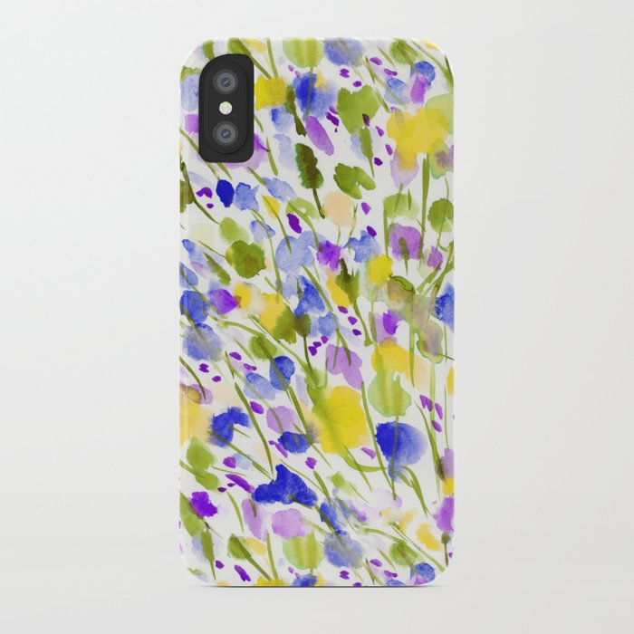 Wild Nature (Yellow and Blue) iPhone Case