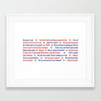 seinfeld Framed Art Prints featuring Seinfeld quotes by Dr. Spaceman40