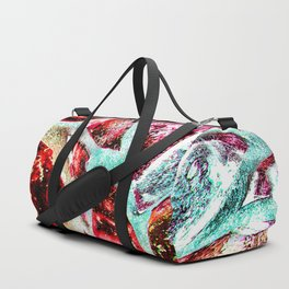 Melting stained glass abstract digital art Duffle Bag