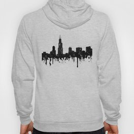 Watercolor Chicago Skyline Hoody