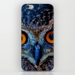 Orange Owl Eyes iPhone Skin