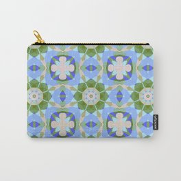 Tiled pattern design with fantasy flowers Carry-All Pouch