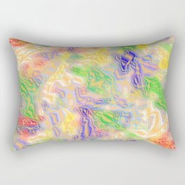 many colorful strokes painted Rectangular Pillow