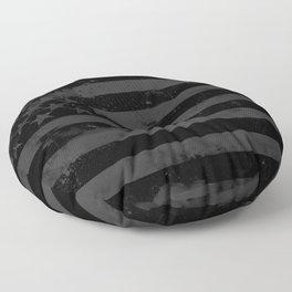 Black American Flag Floor Pillow