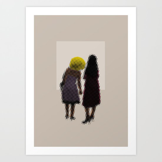 She tried, but all she could see was the missing picture Art Print