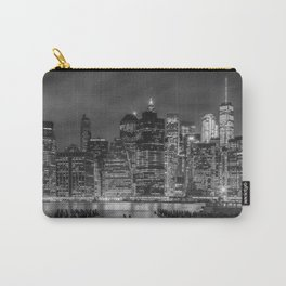 NEW YORK CITY Monochrome Night Impressions | slim panoramic Carry-All Pouch
