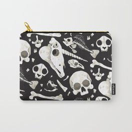 black Skulls and Bones - Wunderkammer Carry-All Pouch
