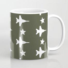 F-18 Hornet Fighter Jet Pattern Coffee Mug