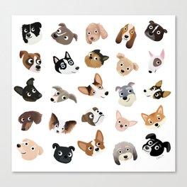 Dog Overload Portraits Canvas Print