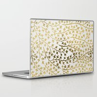 wallpaper Laptop & iPad Skins featuring Gold Ivy by Cat Coquillette