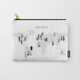 Architects world map Carry-All Pouch