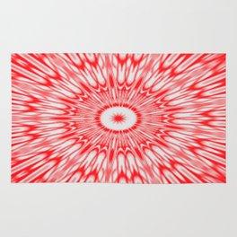 Red Kaleidoscope Rug