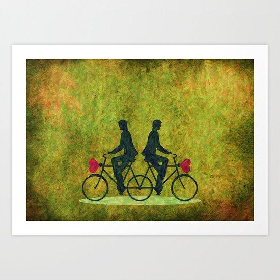 Stucked Love Art Print
