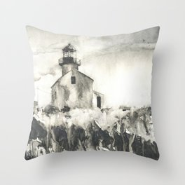 Old Point Loma Lighthouse in th Cabrillo National Monument- San Diego, CA.  California lighthouse Throw Pillow
