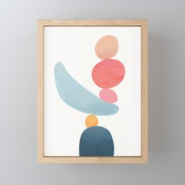 Balancing Stones 21 Framed Mini Art Print