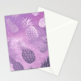 Ananas Fruit Pattern 3 Stationery Cards