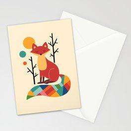Rainbow Fox Stationery Cards
