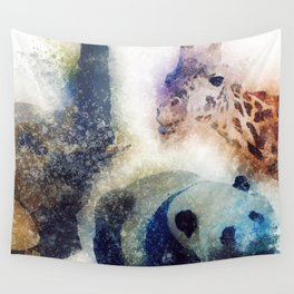Animals Painting Wall Tapestry