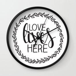 Love Lives Here - Family Decor Wall Clock