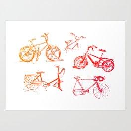 summer bikes Art Print