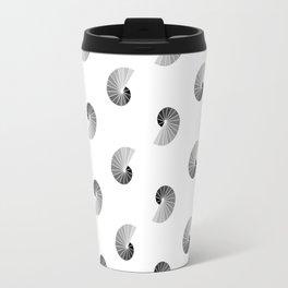 Nautilus Pattern on White Travel Mug