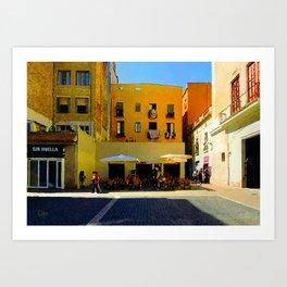 Barcelona Cafe Art Print