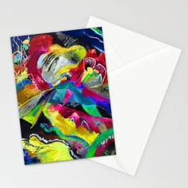 Kandinsky Picture with White Lines Stationery Cards