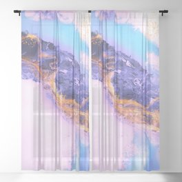 Modern abstract colorful 9 Sheer Curtain