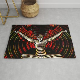 0395s-PDJ Sensual Angel with Red Wings Woman Empowered as Succubus Rug