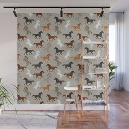 Horse Pattern | Horseback Riding Pony Stallion Wall Mural