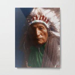 Eagle Elk (He Xa Wan ba li) - Oglala - American Indian Metal Print