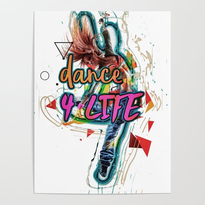 Dance 4 Life Splash Poster