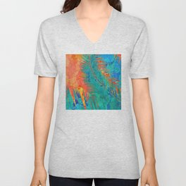 Vibrant jungle for Frida Unisex V-Neck