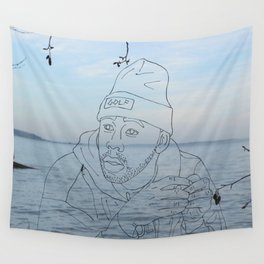 tyler & the sea Wall Tapestry
