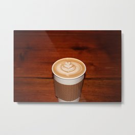 Latte With Love Metal Print