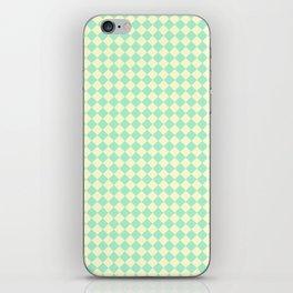 Cream Yellow and Magic Mint Green Diamonds iPhone Skin