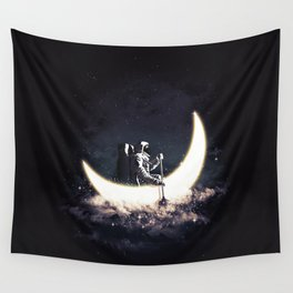 Moon Sailing Wall Tapestry