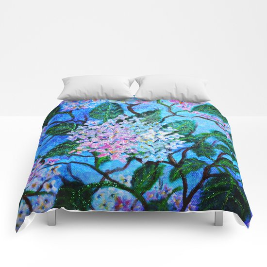 Hydrangea Flowers Comforters