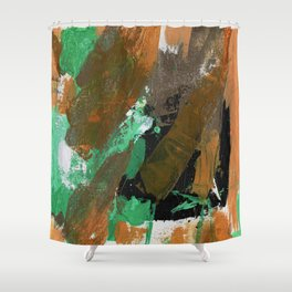 Abstract Expression No. 17 Shower Curtain