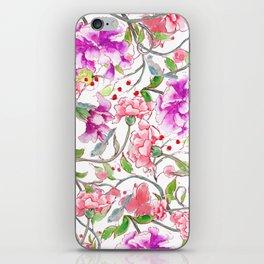 peony pattern iPhone Skin
