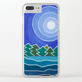The Dark Site Of The Moon Clear iPhone Case