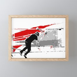 Spinning the Deck - Tail-whip Scooter Stunt Framed Mini Art Print
